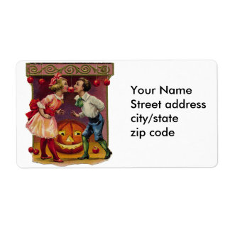 Vintage Halloween Couple Shipping Label
