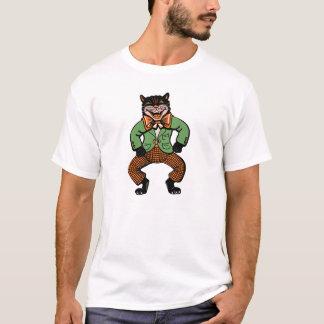 Vintage Halloween Dancing Cat T-Shirt