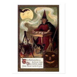 Vintage Halloween Fortune Teller Postcard