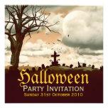 Vintage Halloween Graveyard Full Moon Invitation