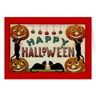 Vintage Hallowe'en Greeting Card