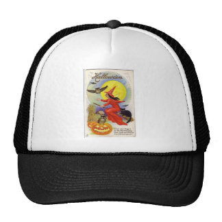 Vintage Halloween Greeting Cards Classic Posters Mesh Hat