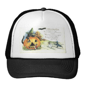 Vintage Halloween Greeting Cards Classic Posters Mesh Hats