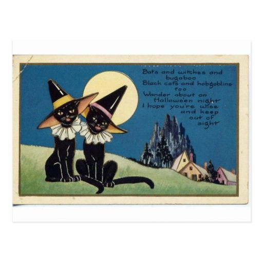 Vintage Halloween Greeting Cards Classic Posters Post Card