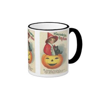 Vintage Halloween Greeting Coffee Mug