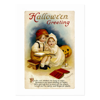 Vintage Halloween Greeting Postcard