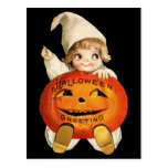 Vintage Halloween Greeting with Little Girl
