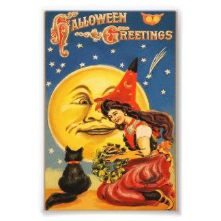 Vintage Halloween Greetings Photo Print