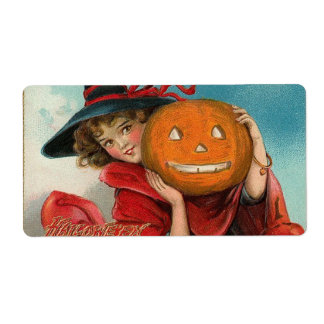 Vintage Halloween Label Shipping Label