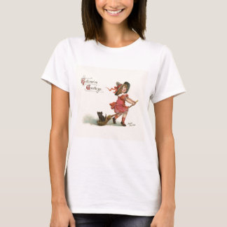Vintage Halloween Little Witch T-Shirt