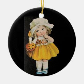 Vintage Halloween Miss Ornament