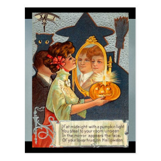 Vintage Halloween Myths Postcard