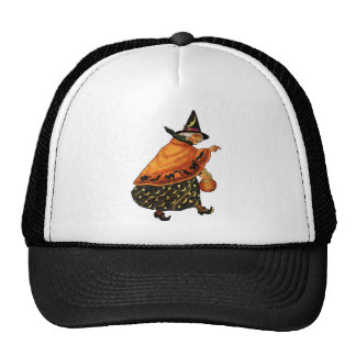 Vintage Halloween Old Witch Mesh Hats