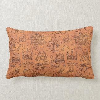 Vintage Halloween Pattern Lumbar Cushion
