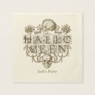 Vintage Halloween, Personalized Disposable Napkins