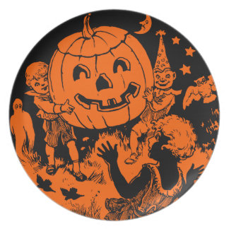Vintage Halloween Plate