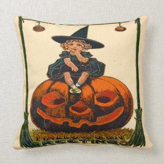 """Vintage Halloween Polyester Throw Pillow 20"""" x 20"""""""