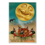 Vintage Halloween Postcard Poster
