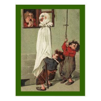 Vintage Halloween Pranksters Postcard