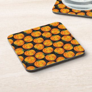 Vintage Halloween Pumpkin Beverage Coaster