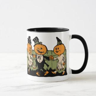 Vintage Halloween Pumpkin People Mug