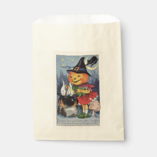 Vintage Halloween Pumpkin Witch Favour Bags