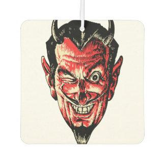 Vintage Halloween Red Devil Head