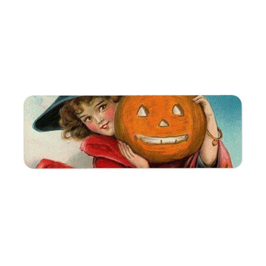 Vintage Halloween Return Address Label