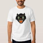 Vintage Halloween Scared Black Cat Tshirts