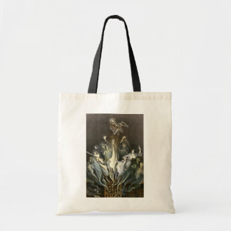 Vintage Halloween, Scary Ghosts and Skeleton Music Budget Tote Bag