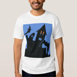 Vintage Halloween, Scary Haunted House and Witch Shirt