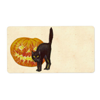 Vintage Halloween Shipping Label