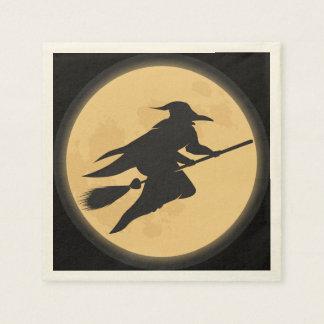 Vintage Halloween Silhouette Design Disposable Serviette