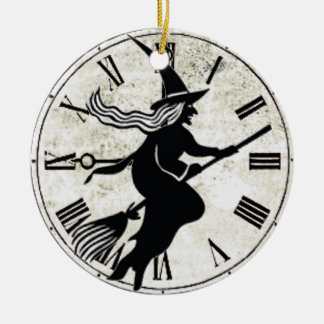 Vintage Halloween Silhouette Witch ornament