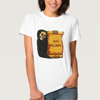 Vintage Halloween Skeleton Greetings Parchment Tshirts
