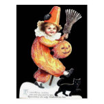 Vintage Halloween Sparkling Costume Party Postcards