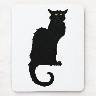 Vintage Halloween, Spooky Art Nouveau Black Cat Mouse Pad