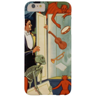 Vintage Halloween, Spooky Magic Act with Magician Barely There iPhone 6 Plus Case