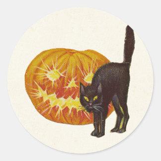 Vintage Halloween Round Sticker
