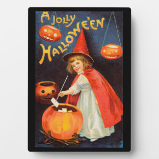 Vintage Halloween Tabletop Plaque