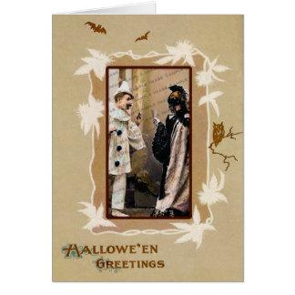 Vintage  Halloween Template Card