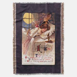 Vintage Halloween Time Throw Blanket