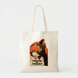 Vintage Halloween Trick or Treat Witch Bags