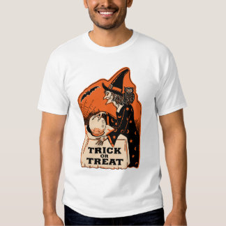 Vintage Halloween Trick or Treat Witch T-shirt
