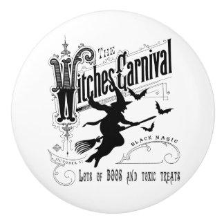Vintage Halloween Witch Ceramic Knob