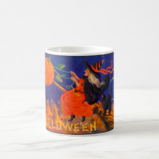 Vintage Halloween Witch Classic White Mug