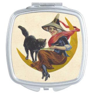 Vintage Halloween Witch Makeup Mirrors