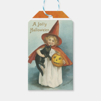 Vintage Halloween Witch Gift Tags