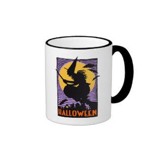 Vintage Halloween Witch Mug