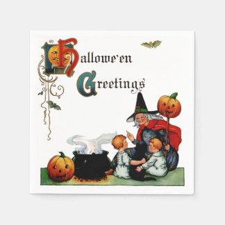 Vintage Halloween Witch Napkin Disposable Napkins
